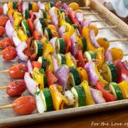 Grilled Veggie Skewers with Cilantro Garlic Butter