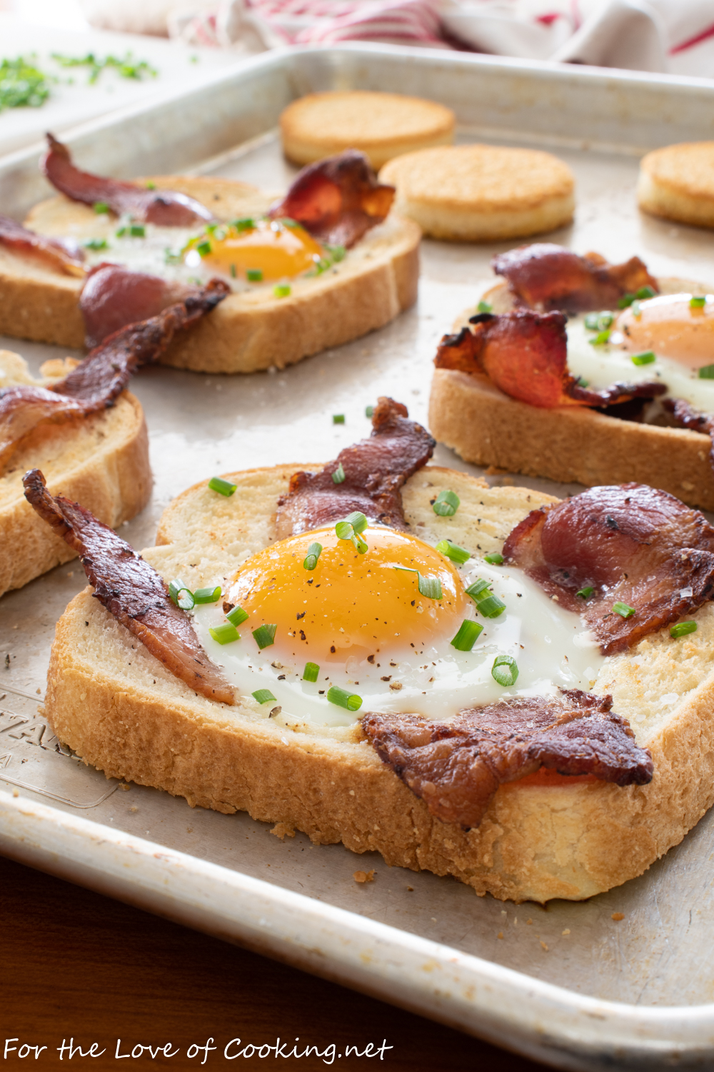 Sheet Pan Egg-in-a-Hole with Bacon