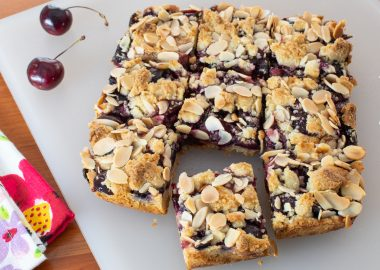 Sweet Cherry Almond Bars