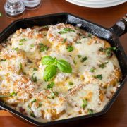 Skillet Italian Sausage and Polenta Parmesan