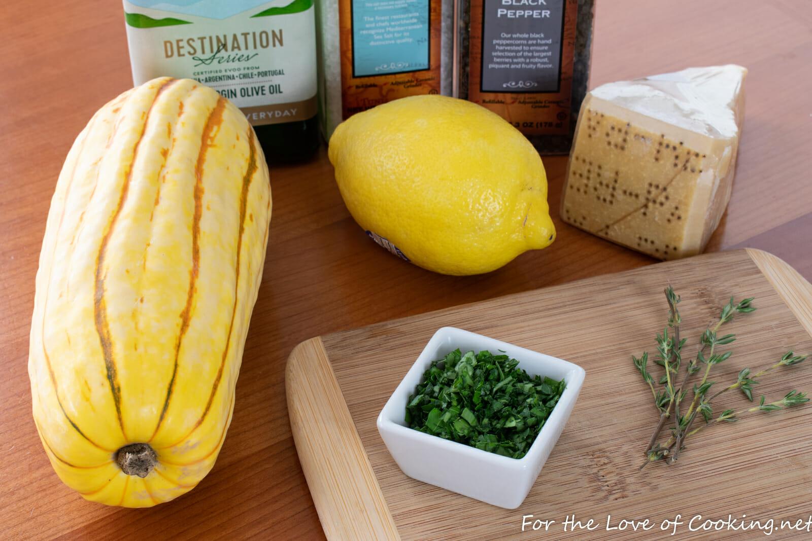Parmesan Crusted Delicata Squash