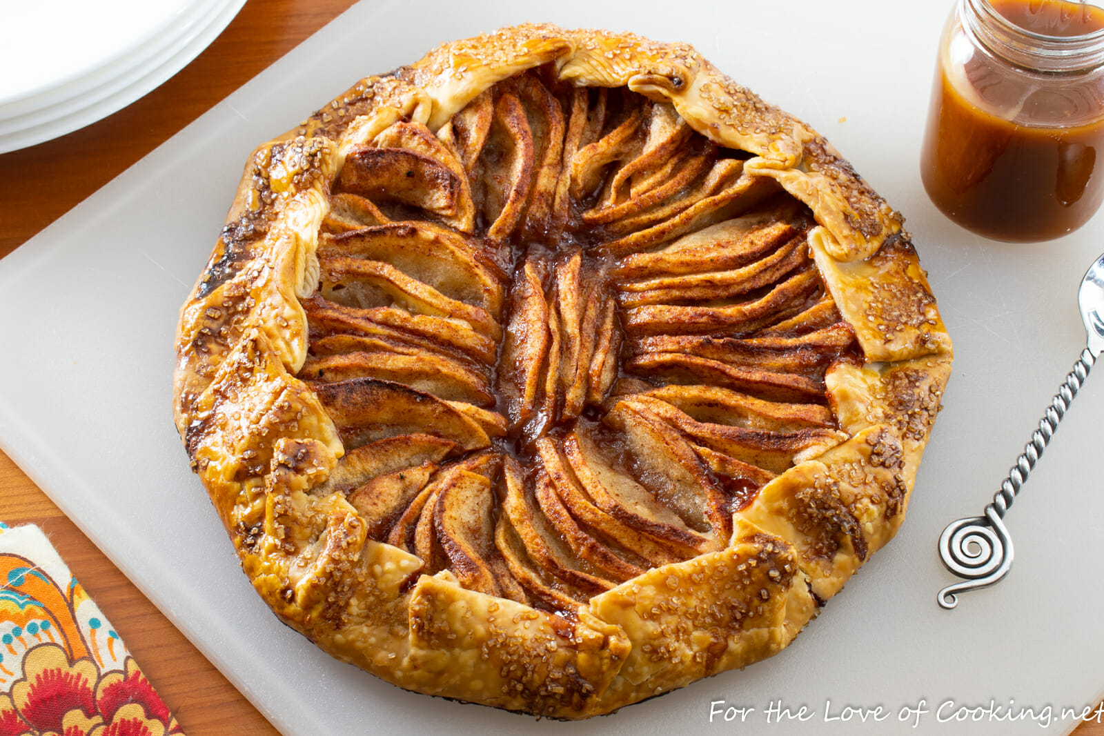 Apple Galette with Apple Cider Caramel Sauce