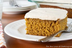 Pumpkin Cake with Brown Butter Maple Frosting