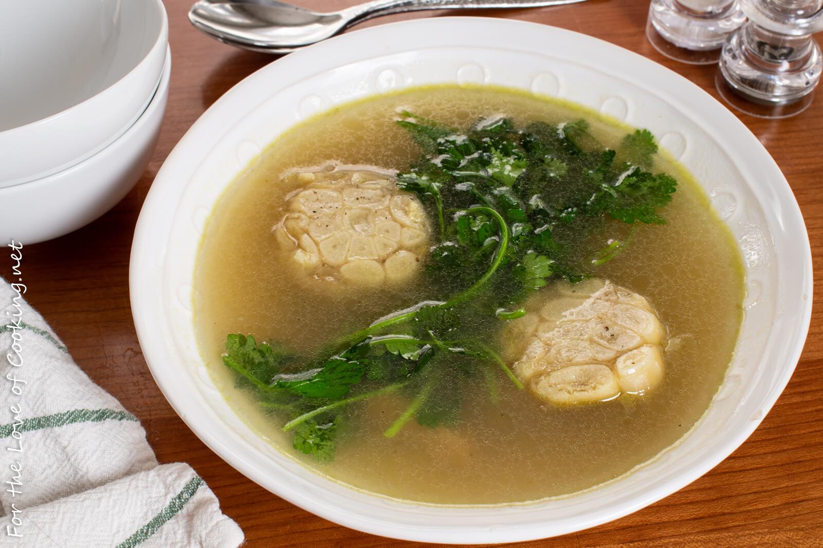 Garlic Broth