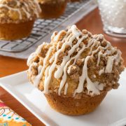 Carrot Cake Muffins with Streusel and Glaze