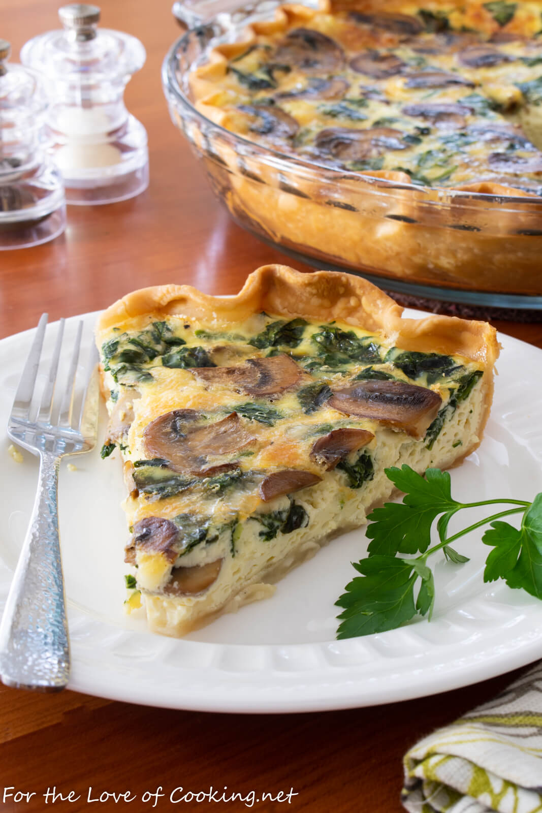 Mushroom And Spinach Quiche With Fontina For The Love Of Cooking