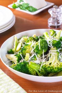 Browned Butter Broccoli with Mizithra Cheese