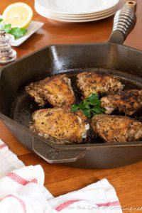 Roasted Greek Chicken Thighs