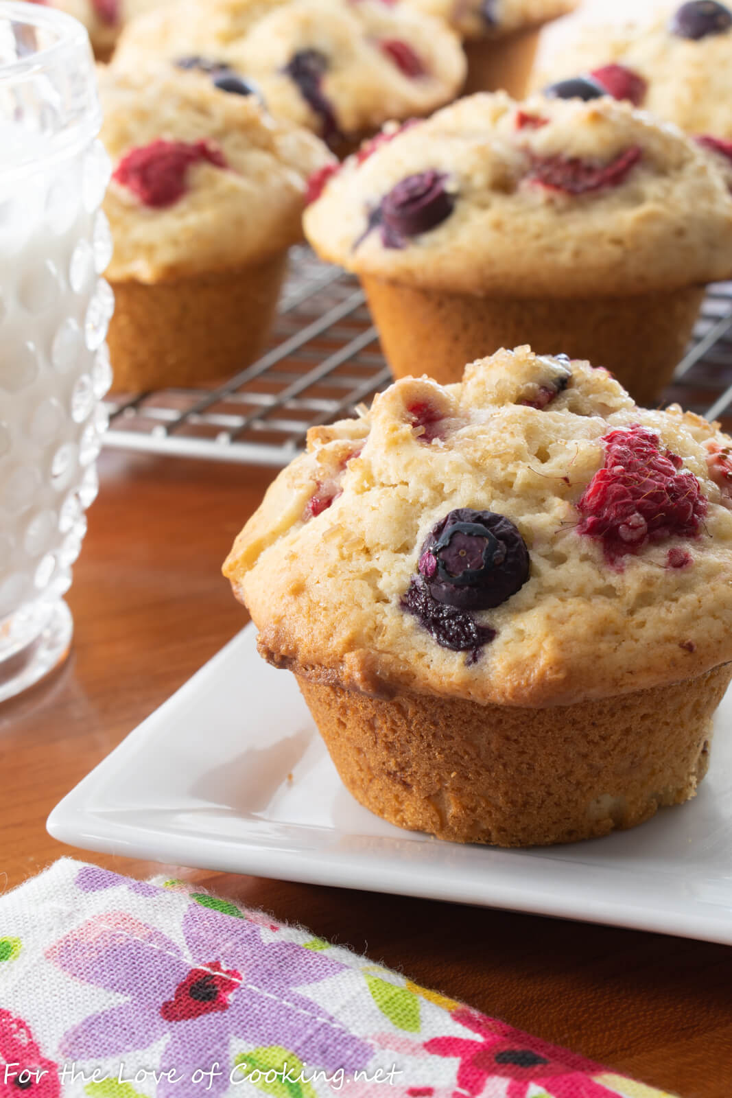 Triple Berry Muffins