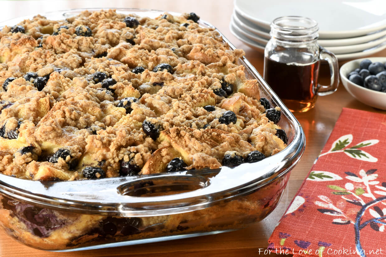 Blueberry French Toast Casserole
