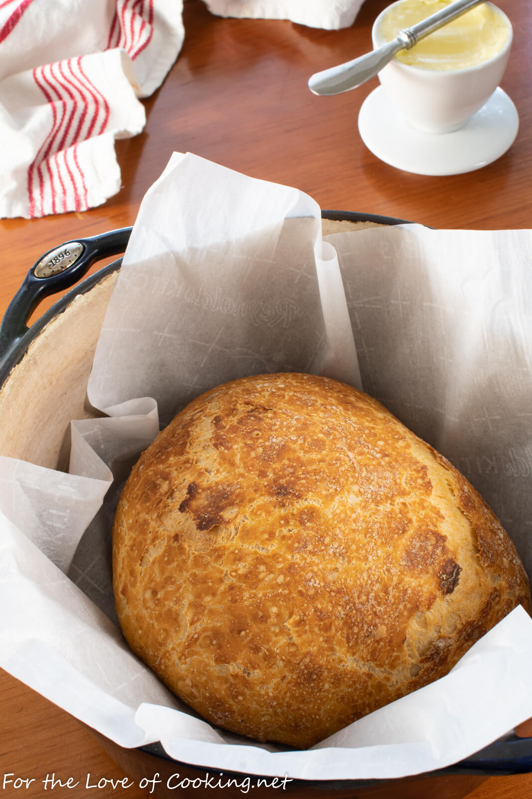 No-Knead Rustic Bread with Roasted Garlic