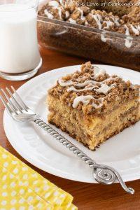 Brown Butter Cinnamon Streusel Banana Coffee Cake