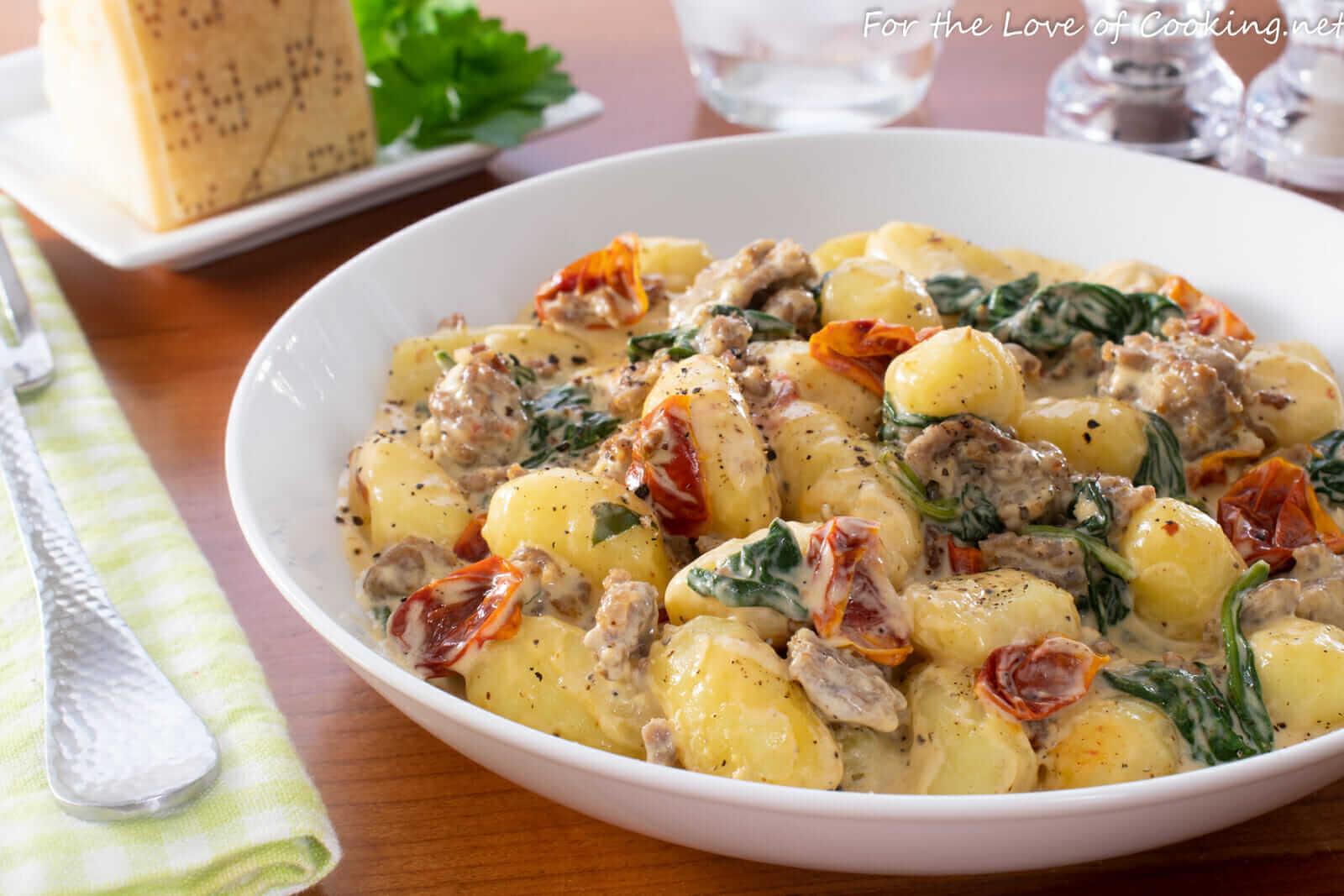 Creamy Tuscan Sausage Gnocchi
