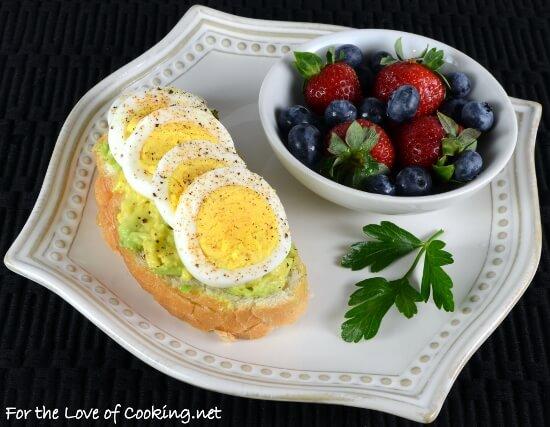 Egg & Avocado Open Faced Sandwich