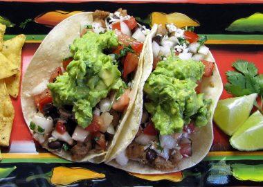 Pork Tacos with Fresh Pico de Gallo and Gaucamole