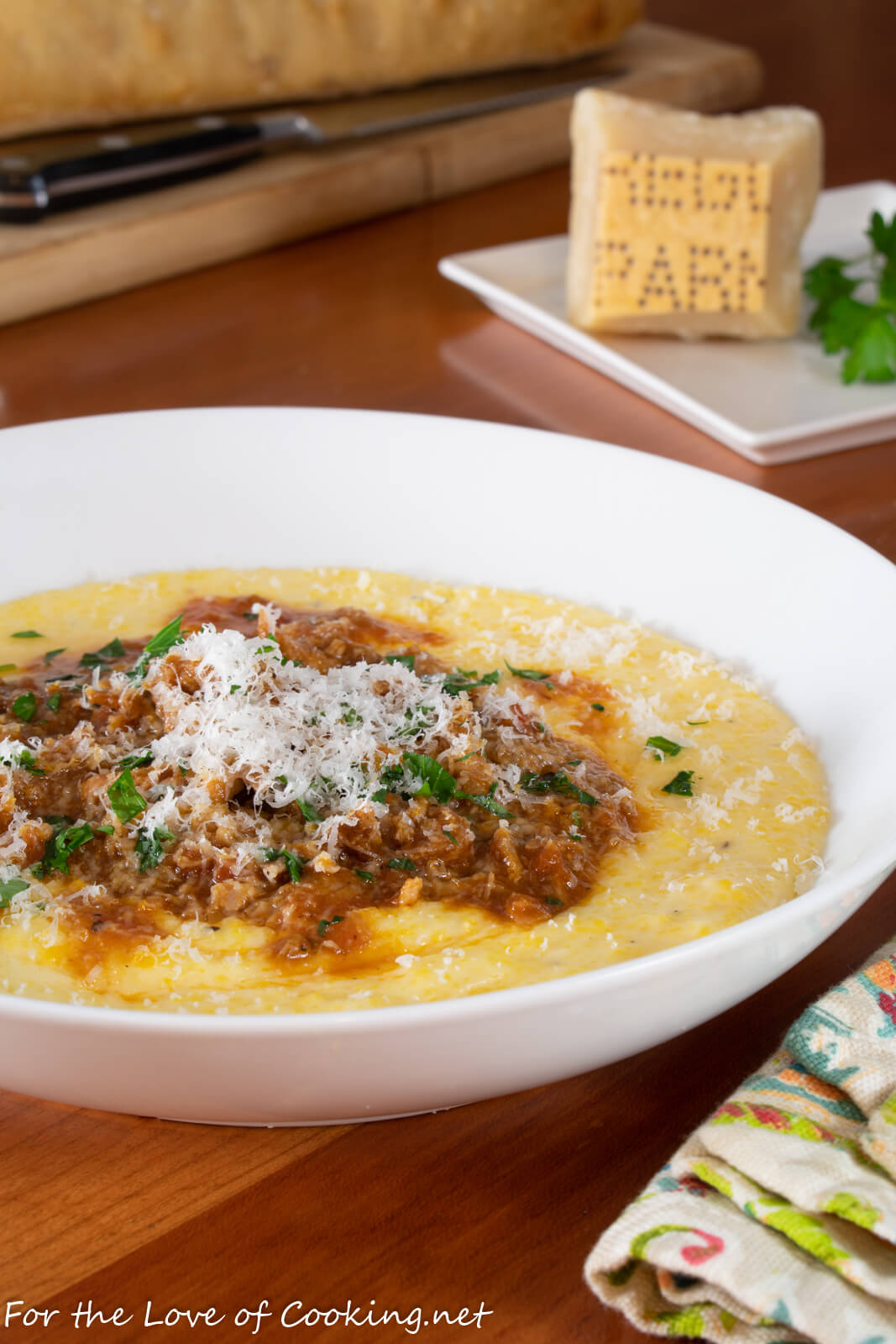 Pork Ragù over Creamy Polenta