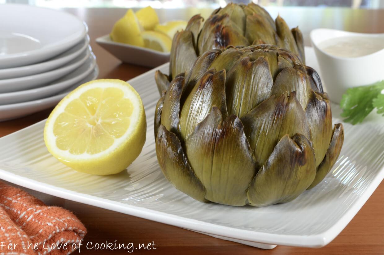 Whole Roasted Artichokes with Lemon-Garlic Aioli