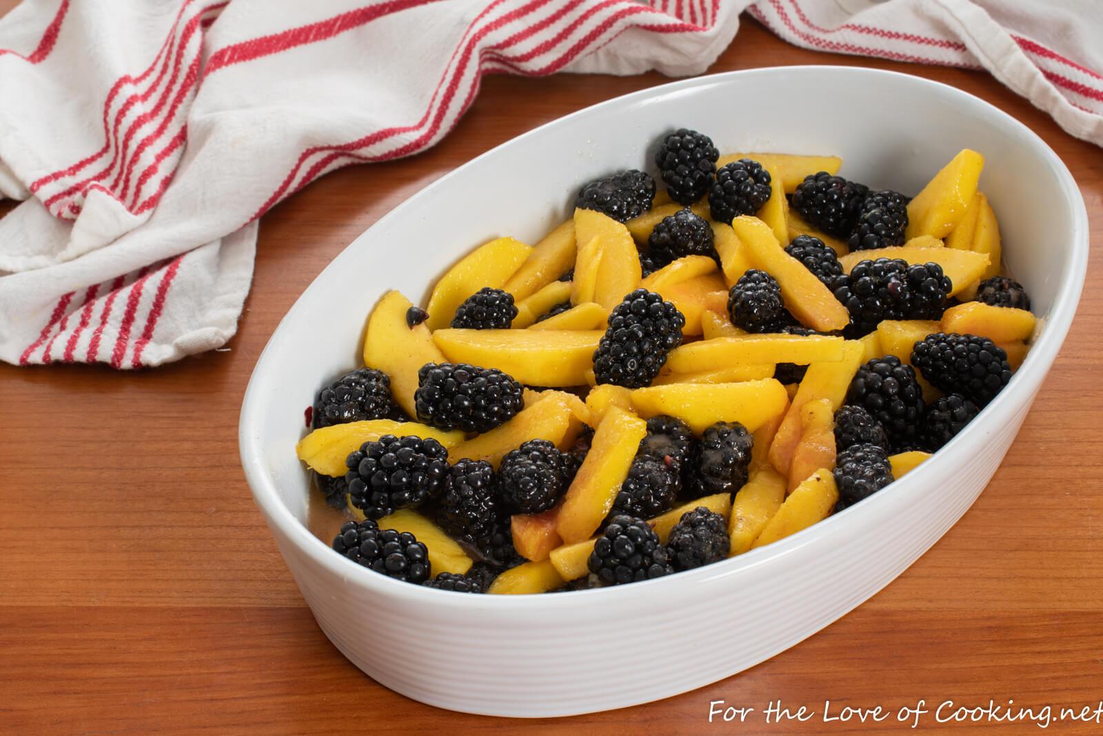 Blackberry and Nectarine Crisp