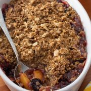 Blackberry and Nectarine Crisp