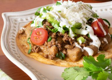Loaded Beef Tostadas