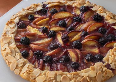 Peach and Blueberry Almond Galette