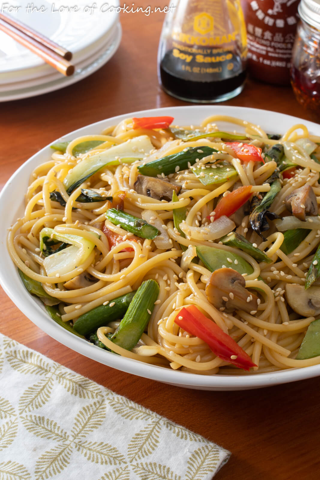 Sesame Noodles with Roasted Veggies