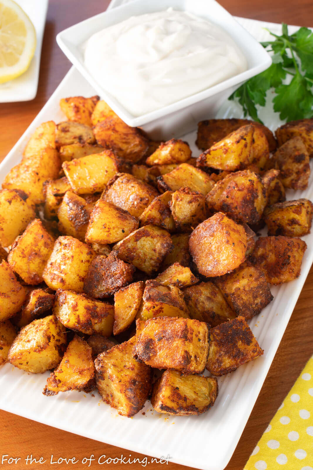 Spicy Potatoes with Lemon-Garlic Aioli