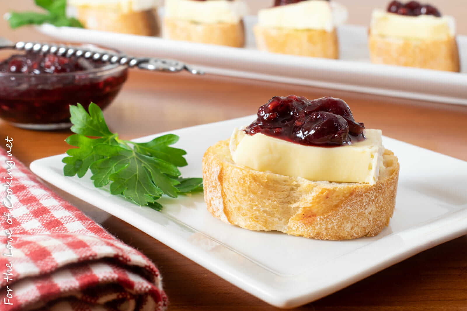 Cranberry-Raspberry Balsamic Compote and Brie Crostini