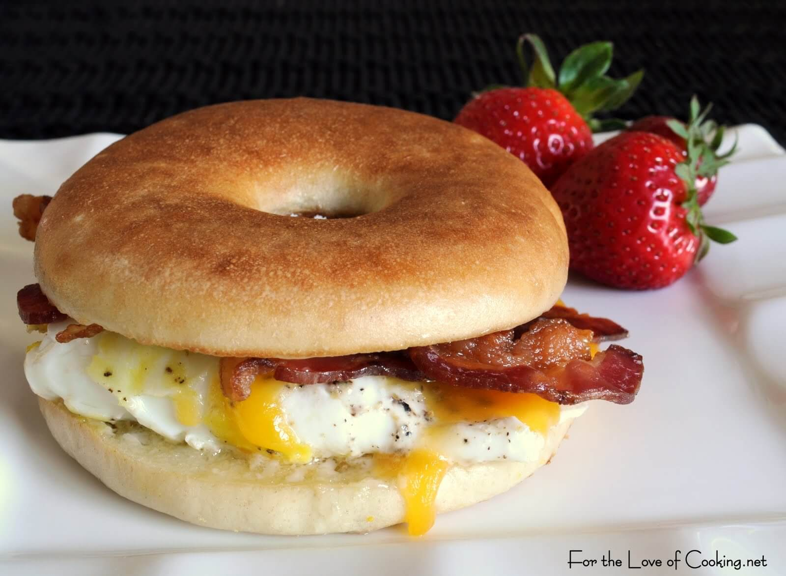 Bacon, Egg, Sharp Cheddar Bagel Sandwich