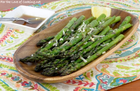 Garlic Browned Butter Roasted Asparagus