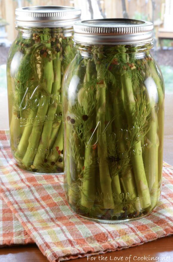 Quick Refrigerator Spicy Asparagus Spears