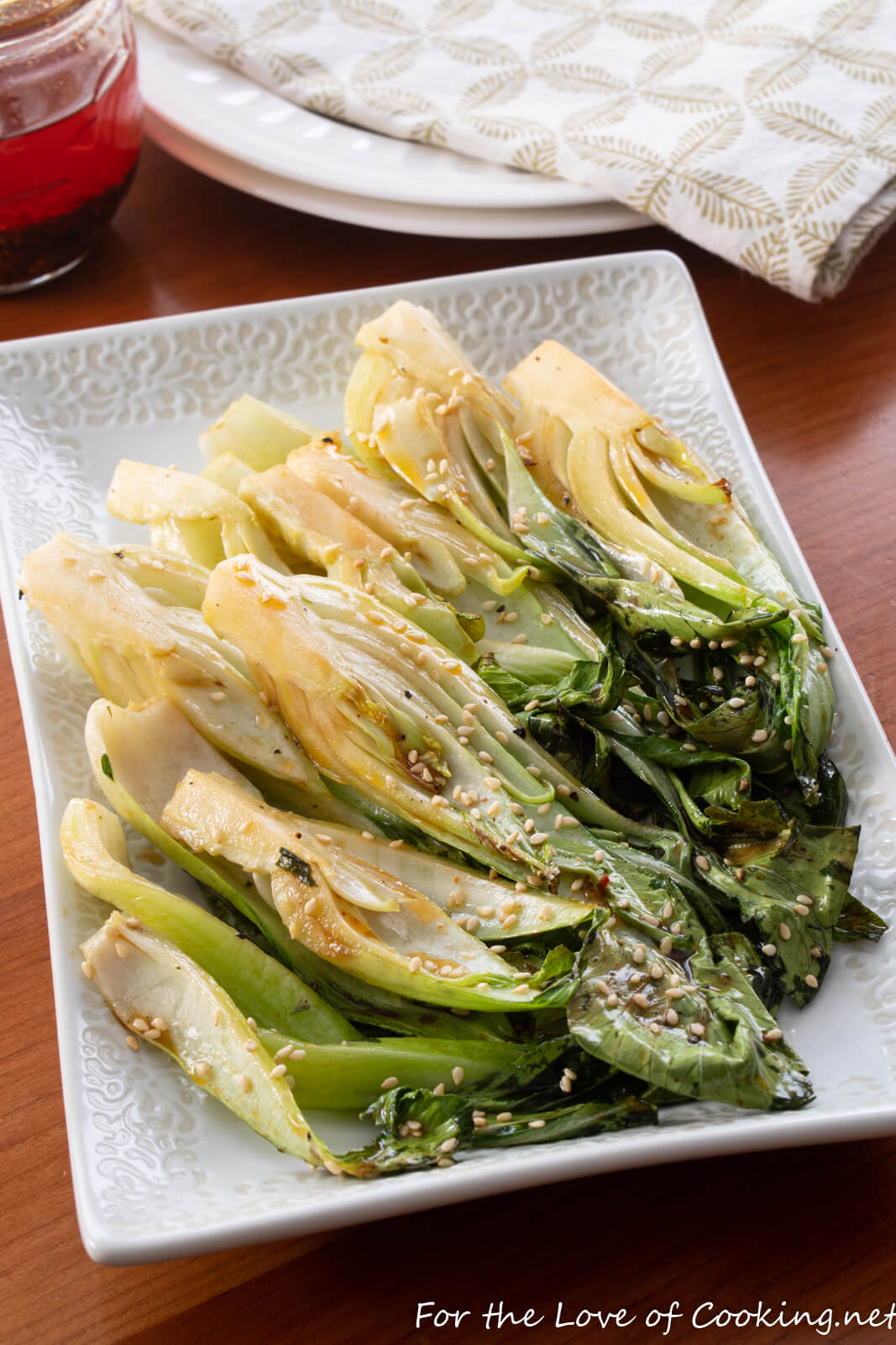 Roasted Baby Bok Choy
