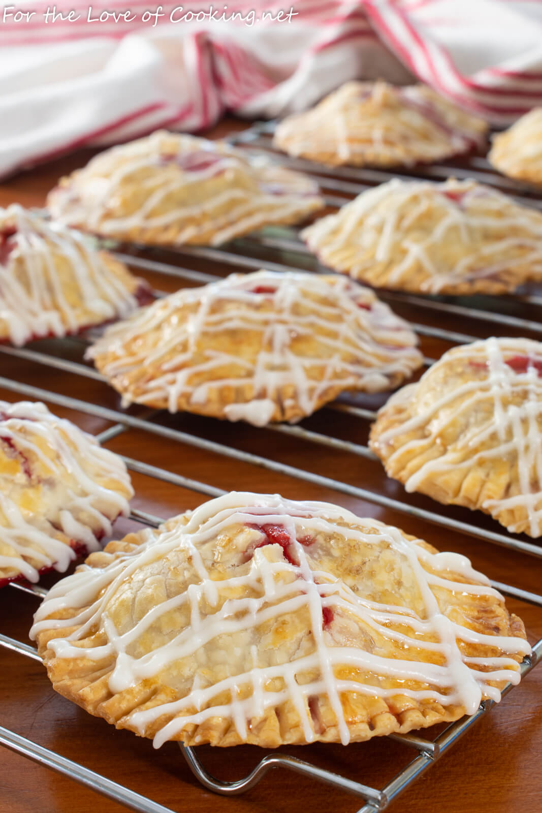 Strawberry Hand Pies with Vanilla Glaze