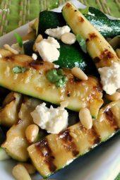 Grilled Zucchini Spears with Lemon Vinaigrette