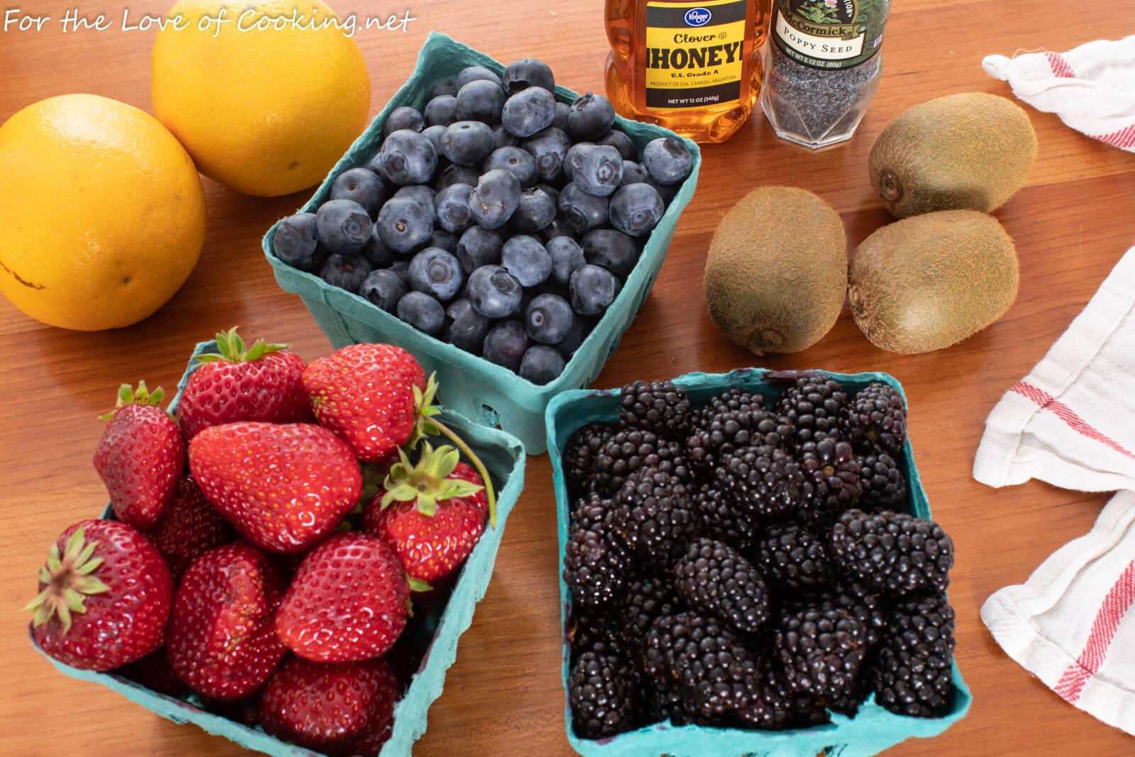 Easy Fruit Salad with Orange Poppy Seed Dressing