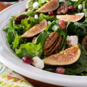 Fig and Goat Cheese Salad with a Balsamic Fig Vinaigrette