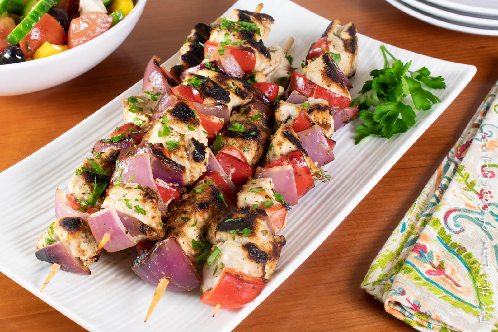 Greek Chicken Kebabs