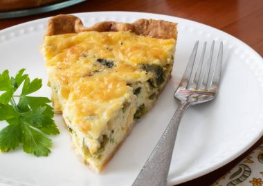 Green Chile Quiche