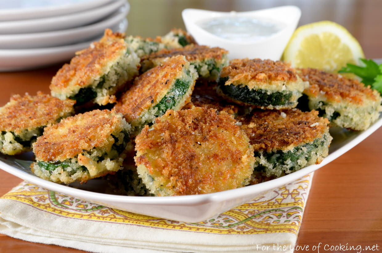 Panko Crusted Zucchini with Lemon-Garlic Aioli