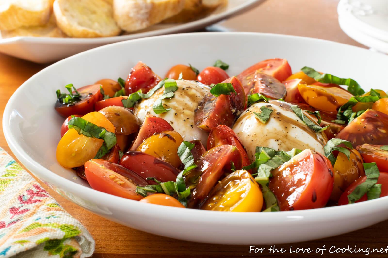 Tomatoes and Burrata