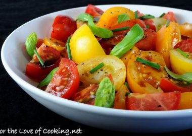 Tomato Salad with Fresh Herbs and a Balsamic Reduction