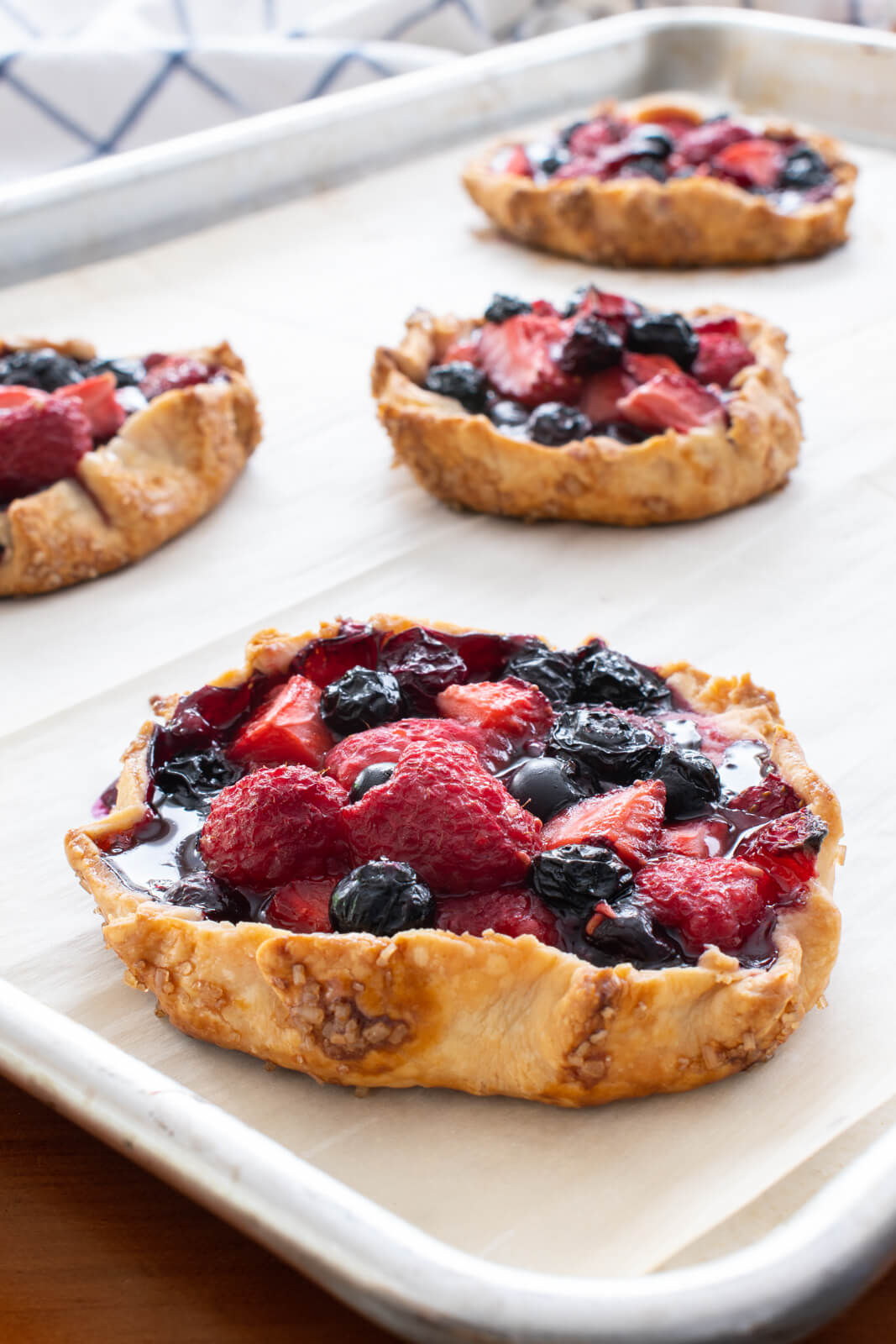 Mini Triple Berry Galettes