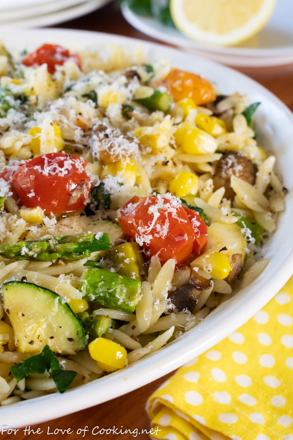 Orzo with Roasted Summer Vegetables