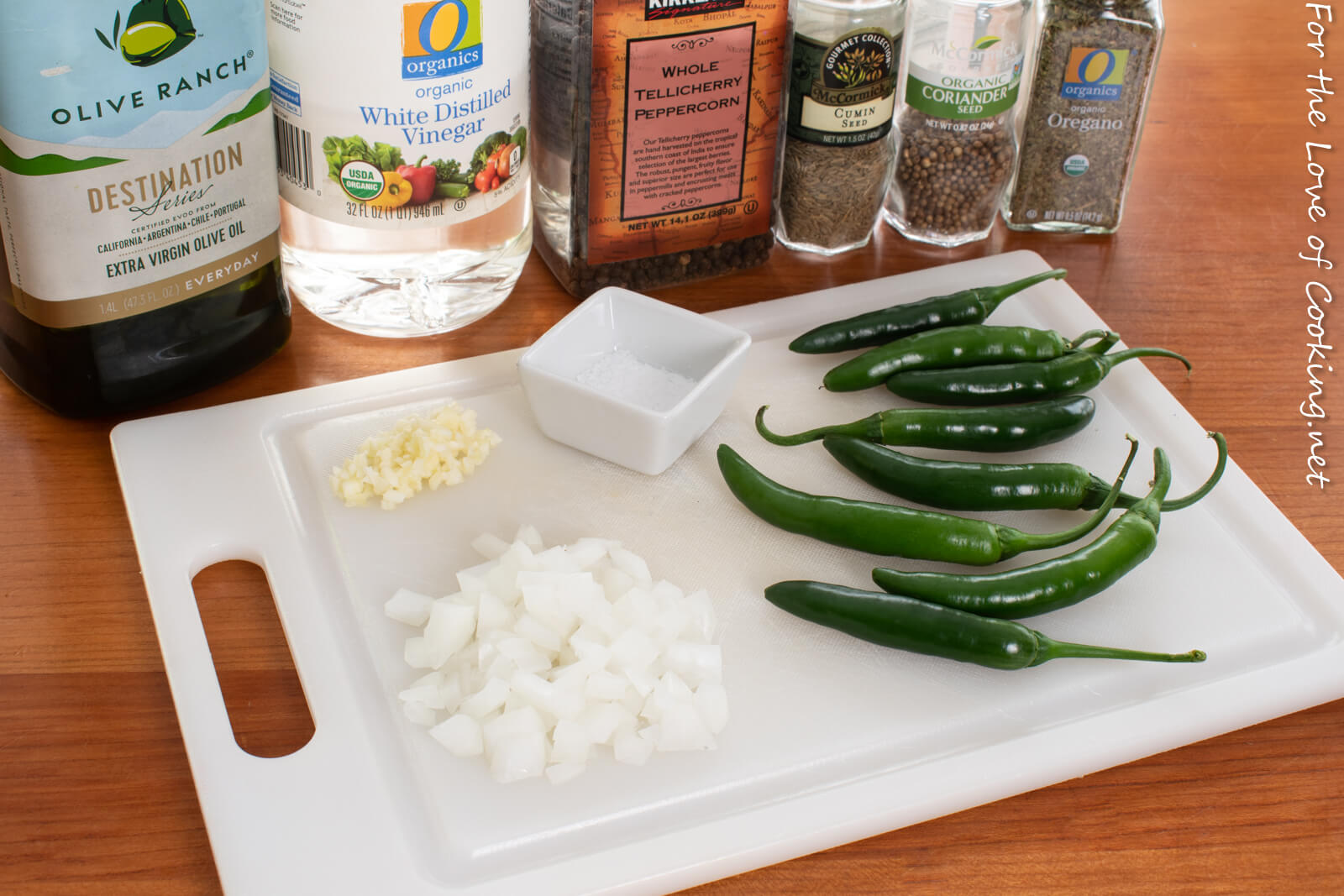 Quick Pickled Serrano Peppers - Small Batch