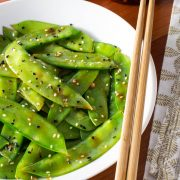 Spicy Snow Peas with Ginger