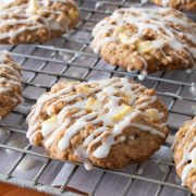 Apple Cinnamon Cookies with Maple Glaze