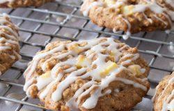Apple Cinnamon Cookies with Maple Glaze