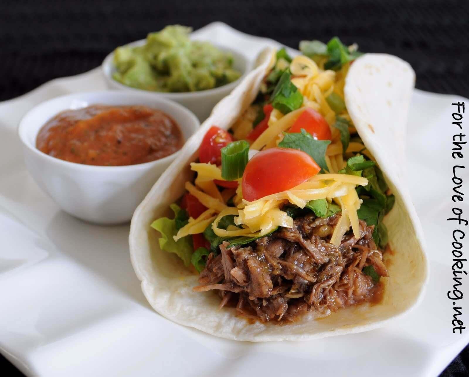 Shredded Beef Soft Tacos