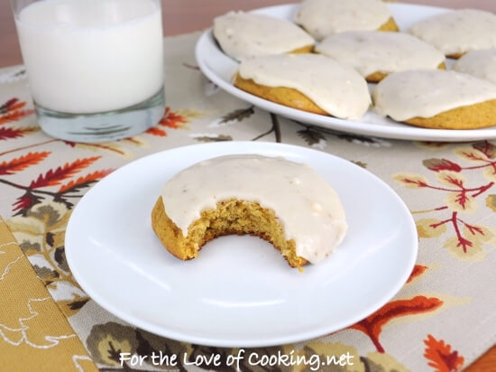 Pumpkin Cookies with Browned Butter Icing