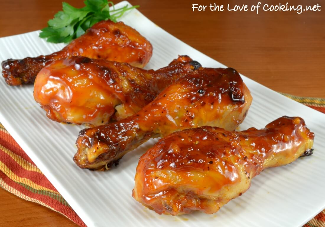 Sticky Oven-Roasted Apple Cider Barbecue Chicken